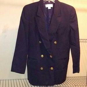 Liz Claiborne blazer jacket,100% wool, made in USA